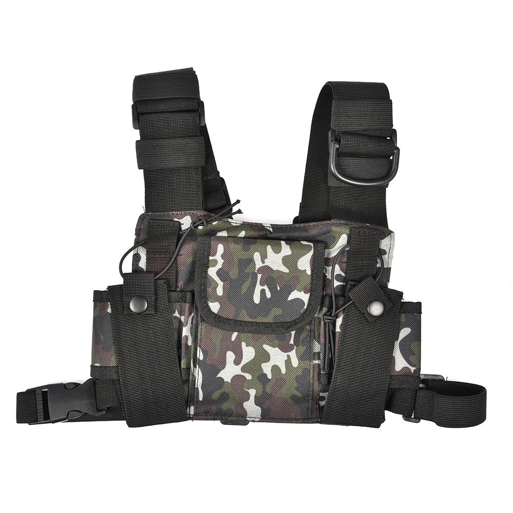 Radio Pocket Pack Walkie Talkie Multifunctional Storage Bag For UV-9R UV9RPLUS UV-XR Camouflage Chest Harness Chest Front Pack
