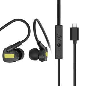 Проводные наушники типа C с регулятором громкости и микрофоном, проводные наушники типа C для Huawei P30 Pro Xiaomi PC, мобильный телефон