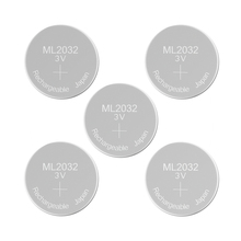 Rechargeable Battery ML2032 3V Lithium Button Built in Coin Cell Batteries ML 2032 Replaces CR2032 Emergency Backup Stand by