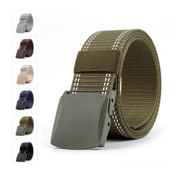 Military Tactical Belt Men Canvas Belts for Jeans Female Casual  Braided Belt Metal Pin Detachable Buckle Straps Belt Ceintures buckle straps flap canvas backpack