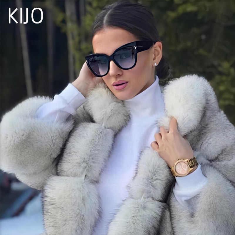 2019 Mới Thời Trang Thương Hiệu Nhà Thiết Kế Tom Mắt Mèo Kính Mát Nữ Quá Khổ Khung Vintage Kính Chống Nắng Oculos De Sol UV400