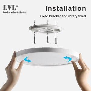 Image 3 - Lâmpada do teto da indução do radar, 12w 18w 24w 220vac, sensor de movimento, superfície montada, lâmpada de teto moderna para corredor de corredor
