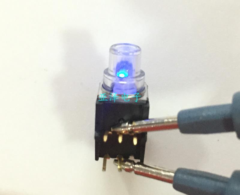20 unids/lote Interruptor táctil de luz American K5V1BA43T P3, con botón de luz LED de doble color, lámpara amarilla/azul vertical de 5 pies - 3