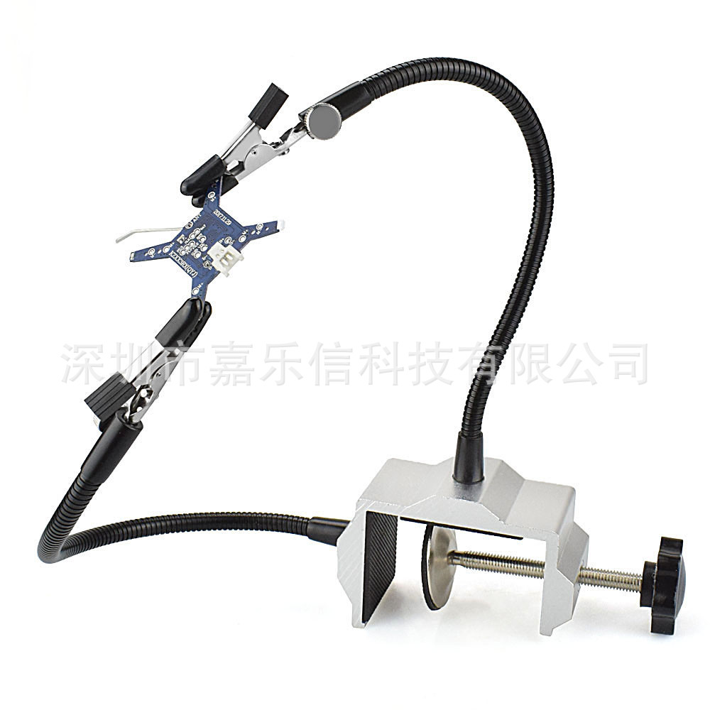 Foreign Trade Vise Lv Tai Soldering Iron Holder Welding Machine Black And White With Pattern Silver Circuit Board Welding Machin
