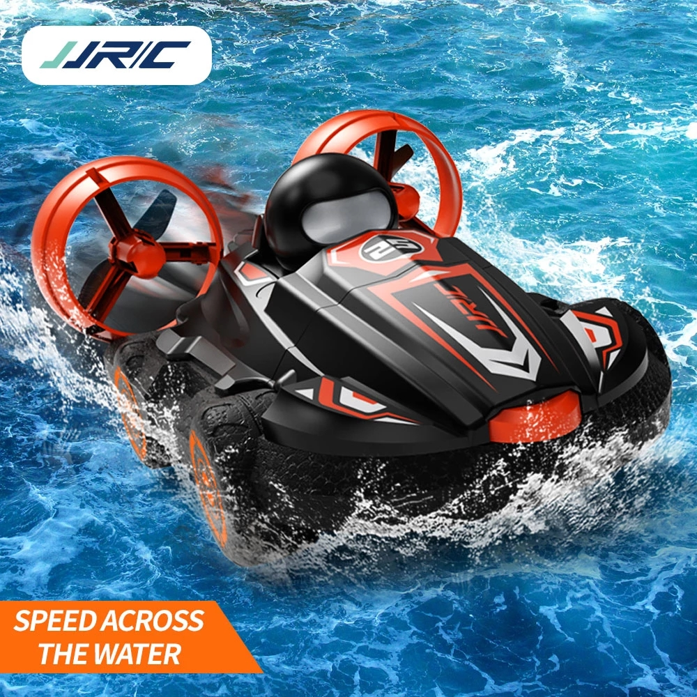 RC Boat 2.4G 2 IN 1 Amphibious Drift Car Remote Control Car Hovercraft Speed Boat RC Stunt Car for Kid Boys Model Outdoor Toys