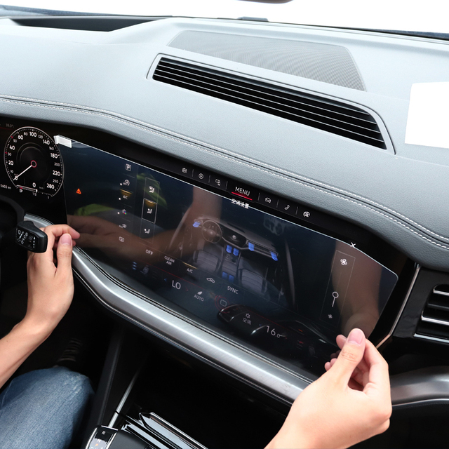 Car Styling For Volkswagen Touareg CR 2019-Present GPS Navigation Screen Film Dashboard Display Screen Film Interior Sticker 6
