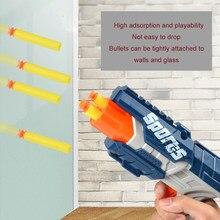 Eva macio bala otário arma para crianças menino não precisa presente da bateria esponja bomba simulação dupla competição puxar para trás atirar jogo