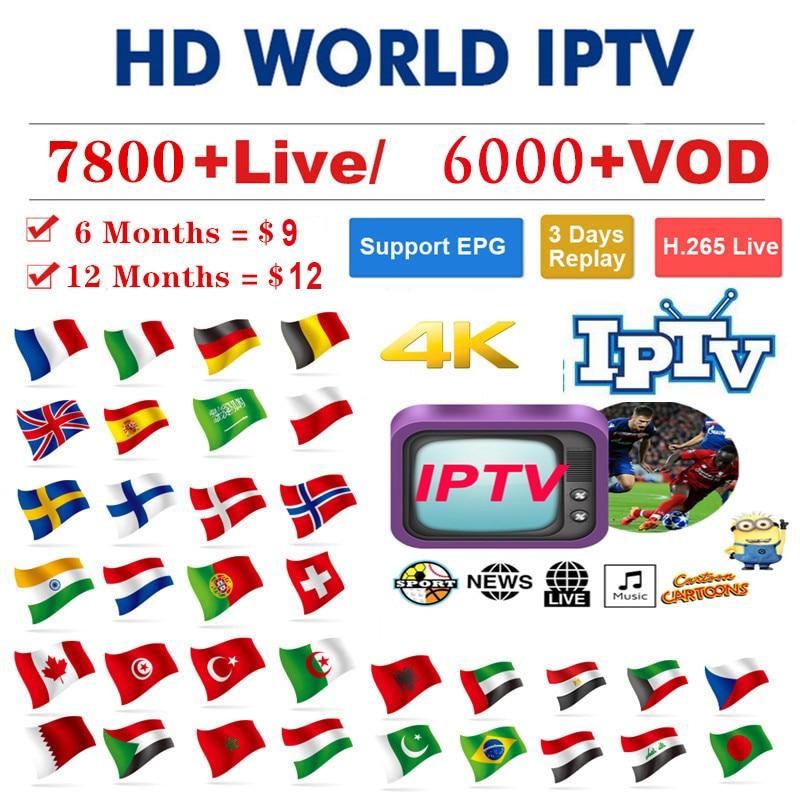 1 Year Europe US UK Brazil Poland Spain French IPTV Subscription 7800+Live France HD IPTV M3u Enigma Vod Sports Adult Free Test