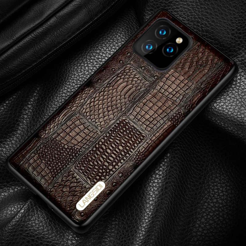 Capa de celular de couro genuíno retrô, emenda, para iphone 11pro 11 pro max x xs max xr 8 plus 6 6s 7 plus 5S se 2020 capa anti-arranhão