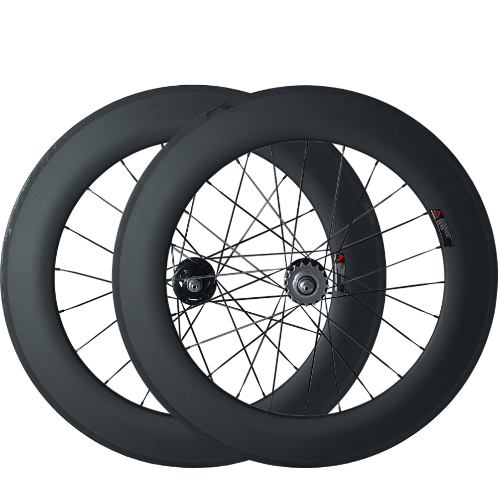 OZUZ Carbon Wheels A165SBT/A166SBT Hub 17 Teeth 88mm Clincher Track Fixed Gear Single Speed Wheels 23mm Wide Bicycle Wheelset