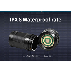 Image 4 - LED dalış el feneri ile 6 XHP70/90 lamba yuvası süper parlak profesyonel sualtı kamera Video ışığı