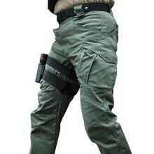 Calças táticas militares da cidade dos homens swat combate exército muitos bolsos à prova dmany água desgastar resistente calças de carga casual 5xl