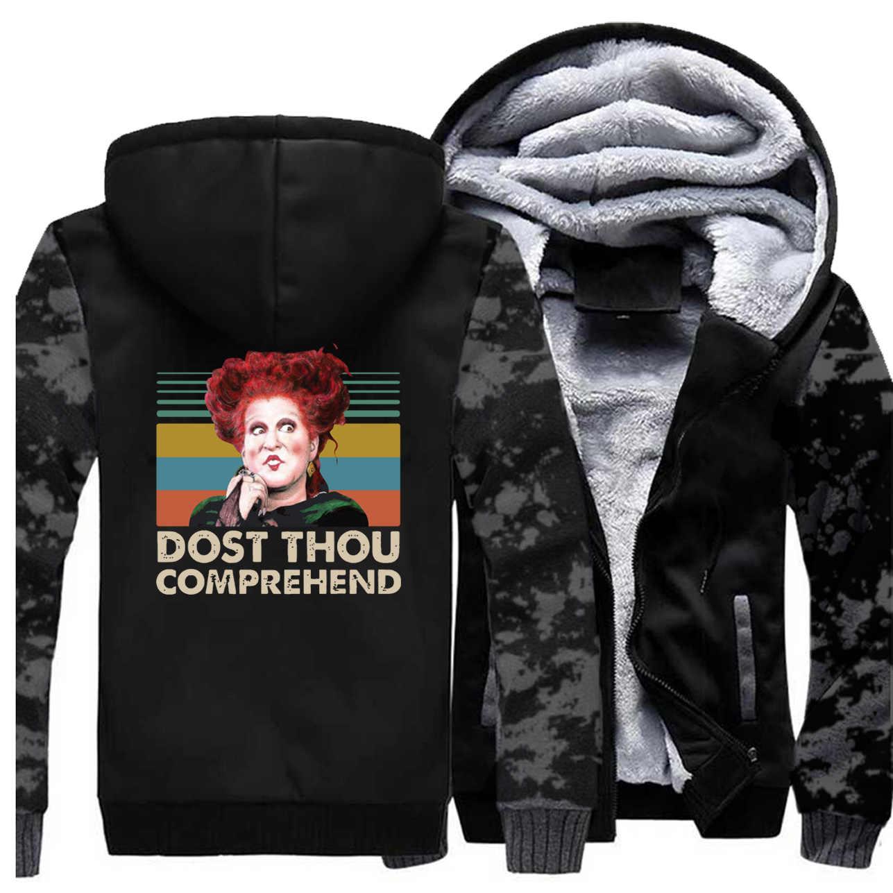 Hommes Hocus Pocus camouflage épais hiver polaire chaud sweat veste Winifred Sanderson manteau Dost you comprendre vestes à capuche
