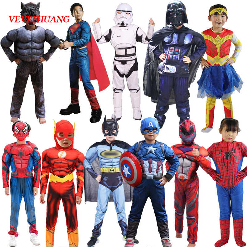 VEVEFHUANG Star Wars Avengers VENOM Spider Batman Superman Iron Man ANT Man Hulk Black Panther สำหรับฮาโลวีนเครื่องแต่งกาย