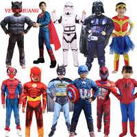 Vevefhuang star wars vingadores veneno aranha batman superman homem de ferro homem formiga hulk pantera negra para o dia das bruxas desempenho traje