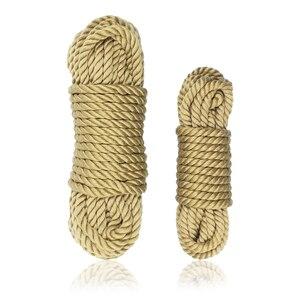 Высококачественная Красивая 100% натуральная пеньковая веревка, товары для взрослых, секс-игры, веревка для бондажа 10 метров 35 футов, эротиче...
