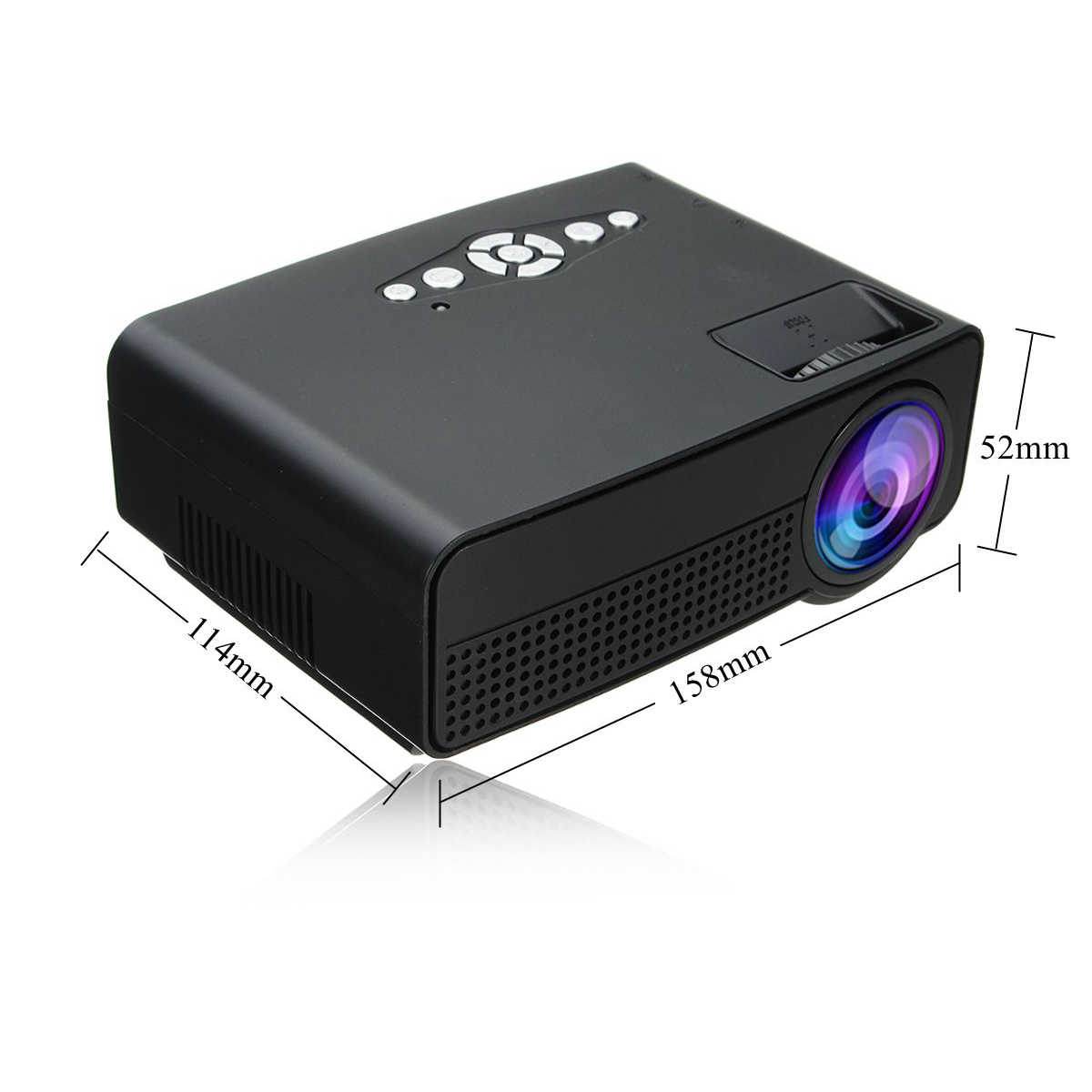 Portable 5000 Lumens HD 1080P 3D Multimedia Projector LED Home Theater HDMI USB