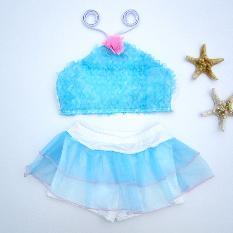 2019 New Style KID'S Swimwear Women's Children Cute Hipster Split Type Bikini Baby Bathing Suit Manufacturers Wholesale