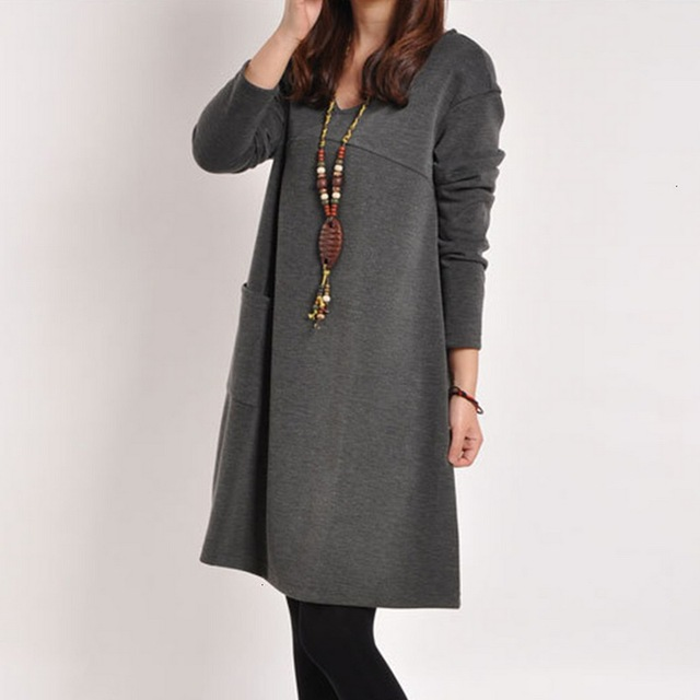 LOOZYKIT Autumn Maternity Dresses in Casual Style 5