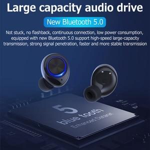 Image 3 - GOOJODOQ wodoodporny TWS 5.0 Mini słuchawki bezprzewodowe sterowanie dotykowe słuchawki Bluetooth słuchawki Bluetooth z podwójny mikrofon
