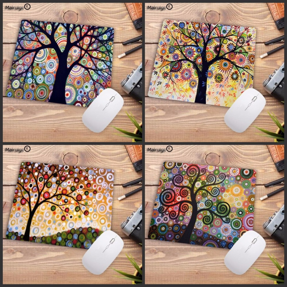 LaumansBeautiful Tree Art Mouse Pad Gaming Mousepad Natural Rubber Gamer Mouse Mat Pad Game Computer Desk Padmouse Play Mat