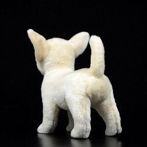 Image 4 - 25 センチメートルリアルなチワワ犬ぬいぐるみかわいい犬子犬ぬいぐるみ人形ソフト実生活チワワおもちゃ子供のためのギフト