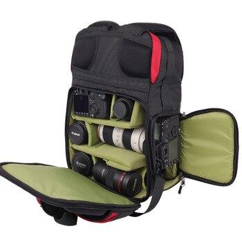 Профессиональные сумки для фото, сумка для цифровой зеркальной камеры большой емкости, дорожный рюкзак с защитой от кражи, водонепроницаем...
