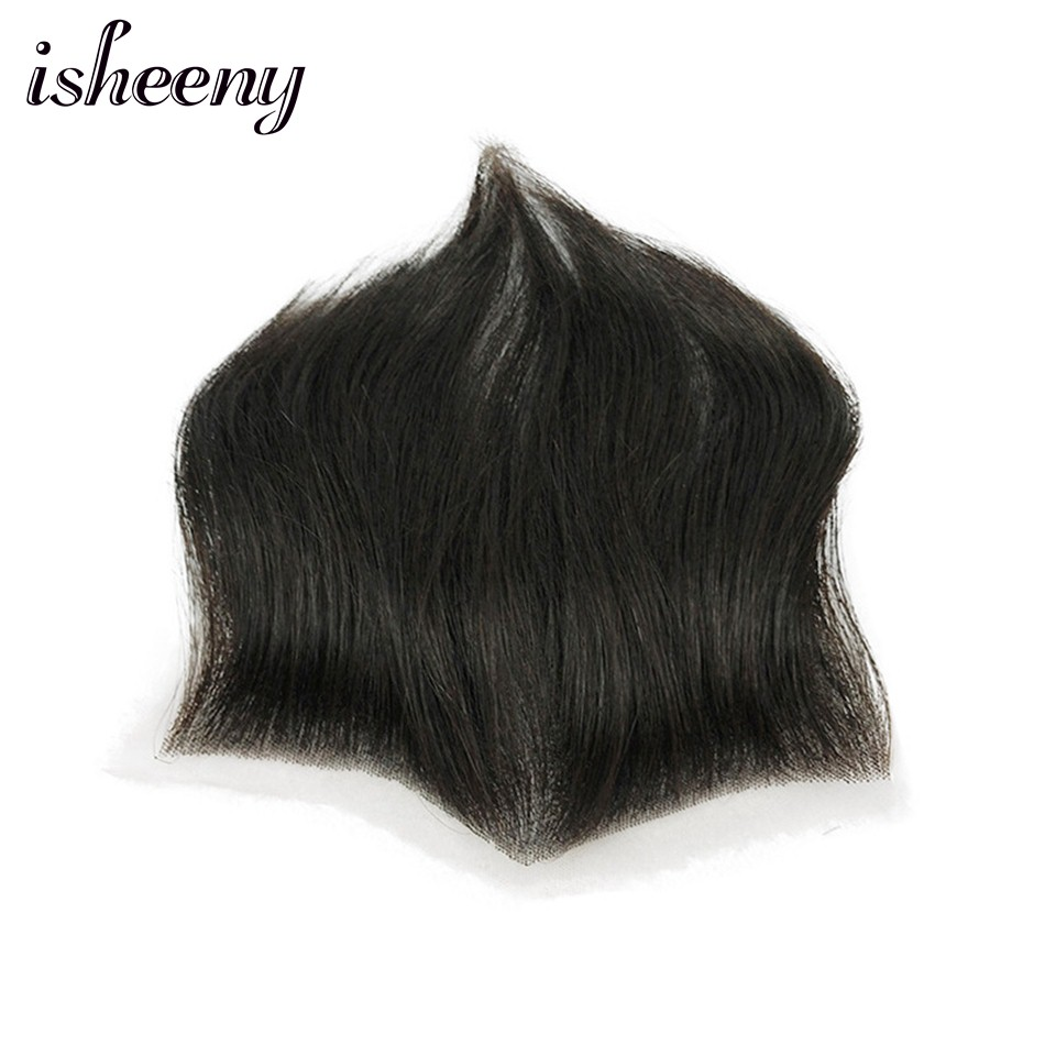15*7 100% Human Hair Piece For Men M Style Forehead Toupee Wig 4