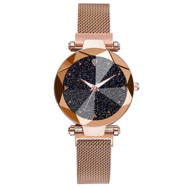 Women Watches Luxury Starry Sky Stainless Steel Mesh Magnetic Strap Ladies Watch Quartz Wrist Watch Relojes Zegarek Damski 5