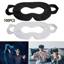 100 pces higiene vr máscara almofada branco preto máscara de olho descartável para oculus quest 2 óculos de realidade virtual 3d alta qualidade e novo