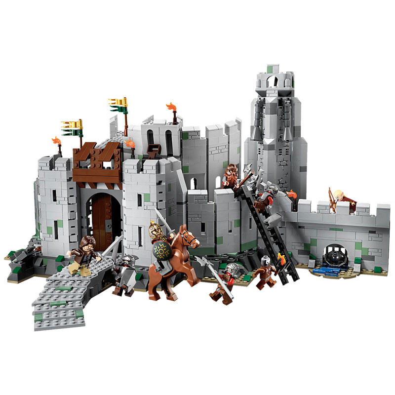Block Lord of the Rings Figures Blocks The Battle Of Helms Deep DIY Model Action Figure DIY Toys For Children