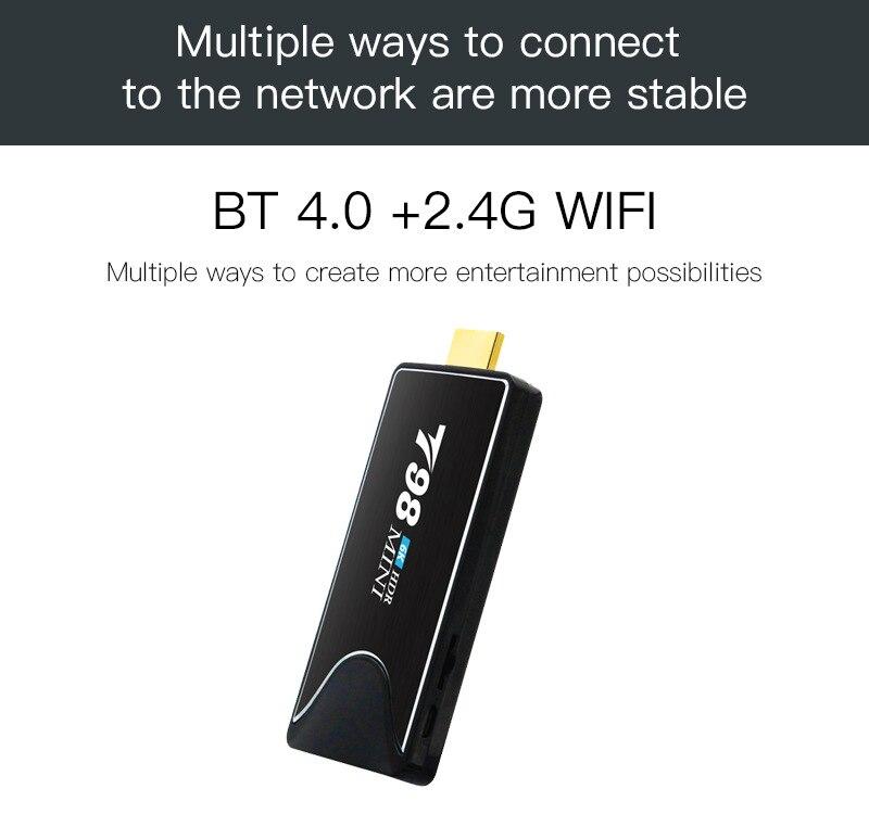 T98 Mini Mini PC Android 9,0 TV Box Allwinner H6 2GB RAM 16GB ROM TV Stick 2,4G wiFi Bluetooth 4K HD Youtube Smart Media-Player