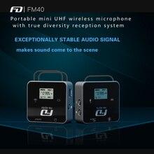 Feidu FM40 Portable mini UHF Wireless Professional Microphone with true diversity reception system Lavalier Mic for camera DSLR