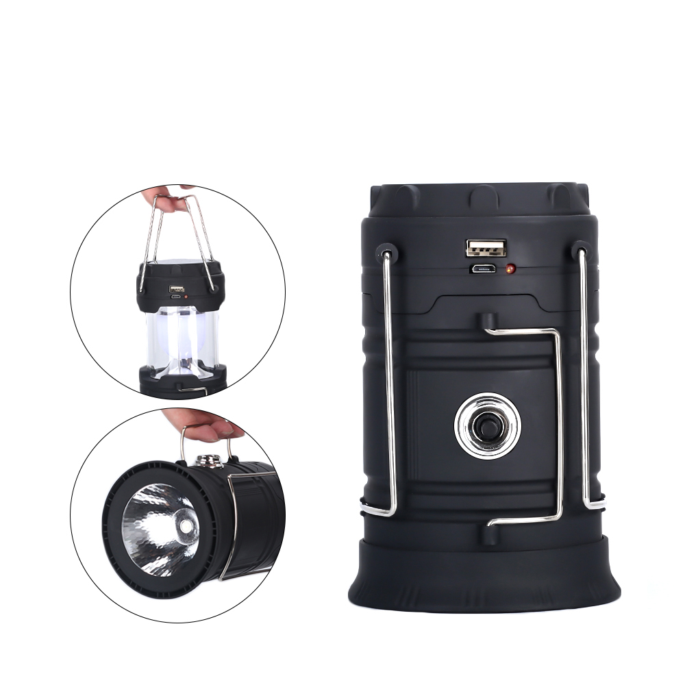 COB LED Mini Portable Lighting Lantern Camping Lamp Torch Outdoor Camping Light Flashlight 18650 Battery