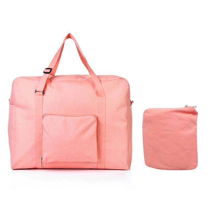 Мужские дорожные сумки, водонепроницаемая нейлоновая складная сумка для ноутбука, вместительная сумка для багажа, дорожные сумки, портативные женские сумки - Цвет: light orange