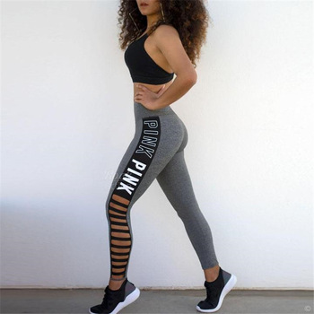 High elasticity gym leggings pants woman push up hip high waist printed leggings white letter Cutout workout spandex pants women white random floral printed gym leggings