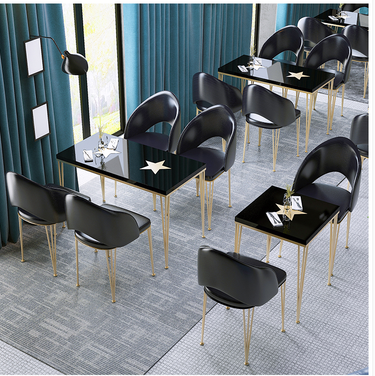 Купить с кэшбэком Milk tea bar long bar high foot table simple household wall close narrow table Nordic iron bar table table chair combination
