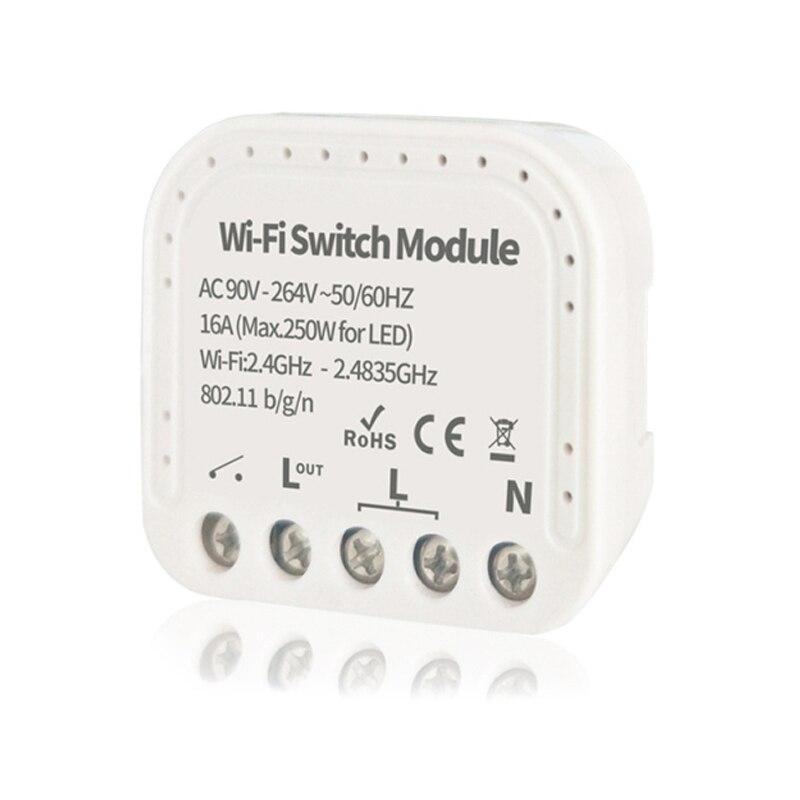 Tuya EWeLink Беспроводной интеллектуальный коммутационный модуль 1/2 способ 90-264V