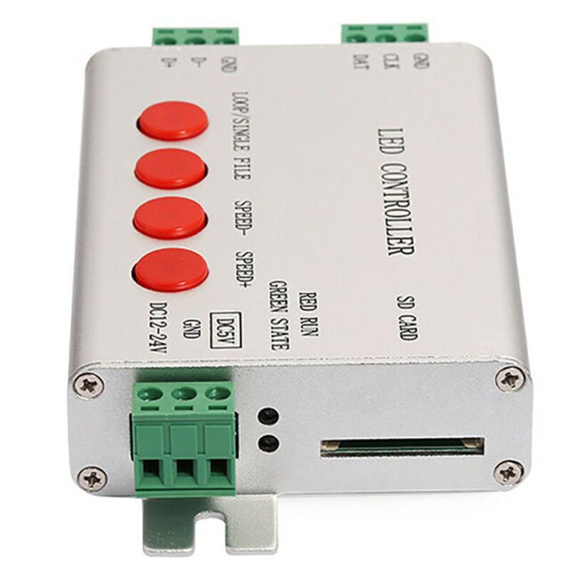 H801SB <font><b>LED</b></font> SD Card SPI <font><b>Controller</b></font> 12V 24V Max 2048 Pixels Strip Light <font><b>Controller</b></font> <font><b>WS2811</b></font> WS2812B DMX512 to SPI <font><b>LED</b></font> <font><b>Controller</b></font> image