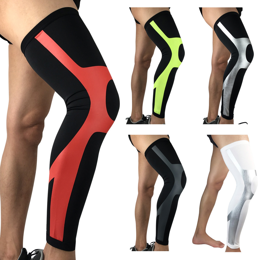 Protective Gear Sports Knee Pads Elastic Compression Thigh Leg Sleeve Protection