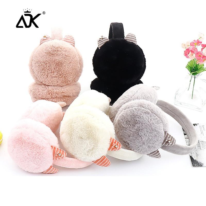 Earmuffs Girls Sweet Cat Design Ear Cover Winter Comfortable Ear Protect Apparel Accessory Solid Earlap