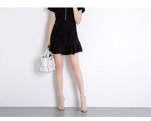 Image 5 - 2020 חדש נעלי נשים שקוף מילת Pvc באיכות גבוהה פגיון סנדלי עירום צבע גבוהה עקבים Bly1635 36 יוקרה מותג