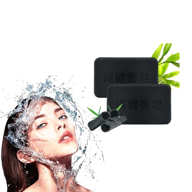Activated Carbon Whitening and Cleaning Soap for Skin Black Spot, Acne, Black Soap Nursing Skin Tourmaline Therapy Freckles