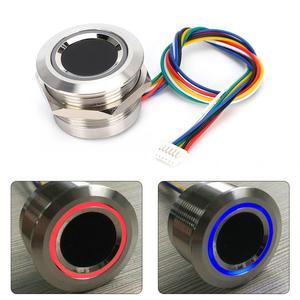 R503 круговой емкостный сенсорный модуль идентификации отпечатков пальцев с 2 Цвет кольцо индикатор светильник емкостный сенсорный модуль сканирования отпечатка пальцев|Устройство для дактилоскопического распознавания|   | АлиЭкспресс