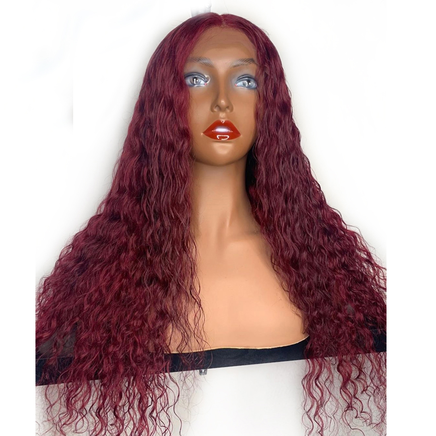 Eversilky Red Burgundy 99j Color 360 Lace Front Wigs Pre Plucked Curly Human Hair Wigs With Baby Hair Brazilian Remy Hair
