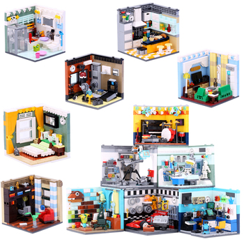 XINGBAO 1401 Genuine Building Series The Living House kitchen Doctors Set Educational building blocks Model Action Toy Kids gift xingbao 01202 1500pcs the new romantic heart set with light usb building block bricks educational toy valentine s day legoingys