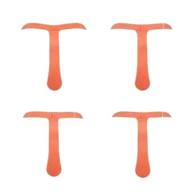 T-shape Eyebrows Shaping Thrush Card DIY Hollow Threading Artifact Thrush Aid Card Easy Makeup Eyebrow Template 3