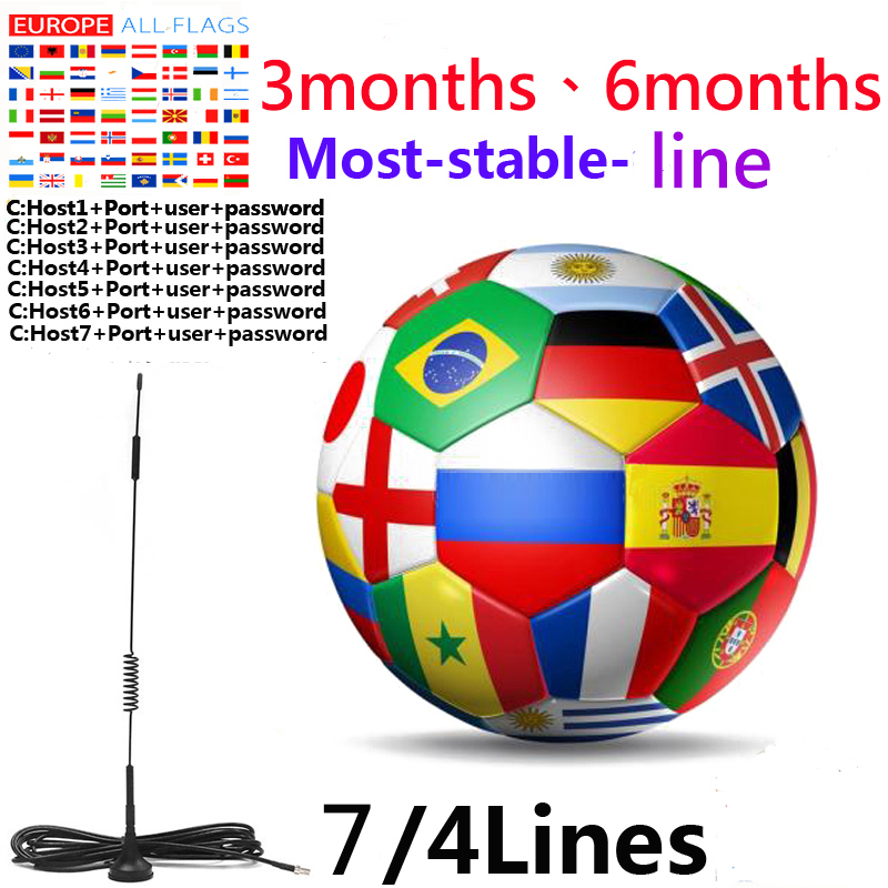 2020 Newest Most Stable Ccams For Europe Spain Poland Portugal Satellite Tv Receiver 4/7lines WIFI FULL HD DVB-S2 Support Ccam