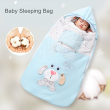Baby sleeping bags Sleepsacks Cartoon Animal Cotton Baby Stroller Zipper Swaddle Blanket Wrap Sleeping bag Infant Envelope 2020