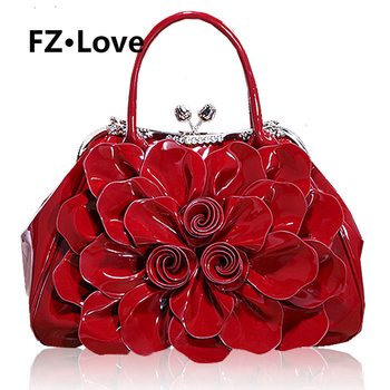 Women's Rose Flower Evening Clutches Handbags Formal Party Wallets Wedding Handle Purses Wristlets Totes Satchel Crossbody Bag